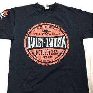 Harley Davidson Mens Black T Shirt Speed and Power